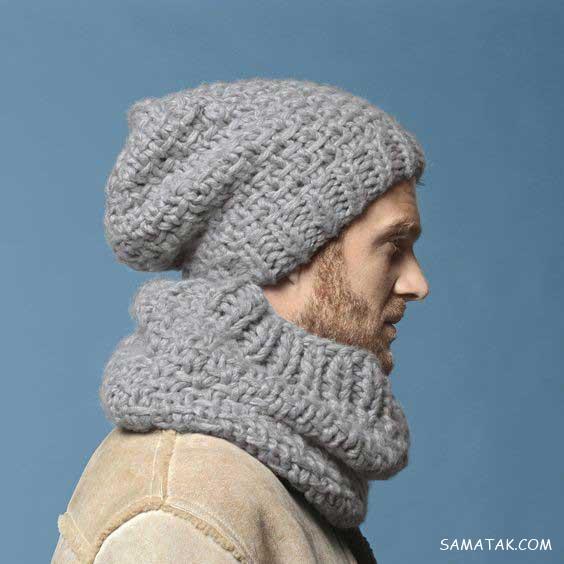 جدیدترین مدلهای شال و کلاه بافتنی مردانه 2019 - 1398