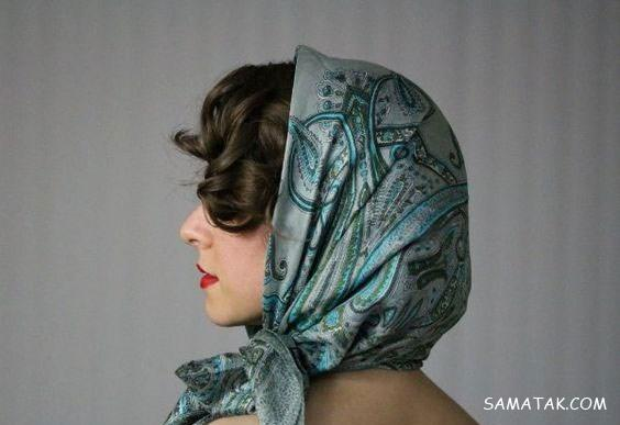 مدل مو زیر شال برای صورت کشیده و گرد | مدل موی جلوی سر زیر شال برای عروسی