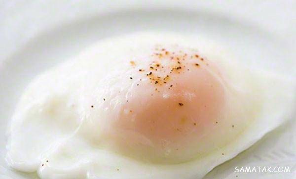 روش طبخ و دستور پخت تخم مرغ نیمرو بدون روغن در 3 دقیقه