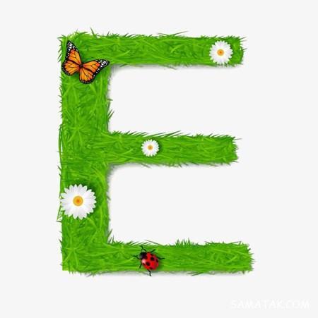 عکس نوشته حرف انگلیسی e برای پروفایل با کیفیت بالا