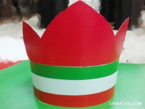 کاردستی کلاه برای 22 بهمن