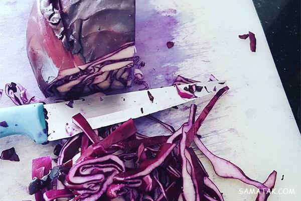 طرز تهیه ترشی کلم قرمز با سرکه سفید | فوت و فن ترشی کلم قرمز فوری
