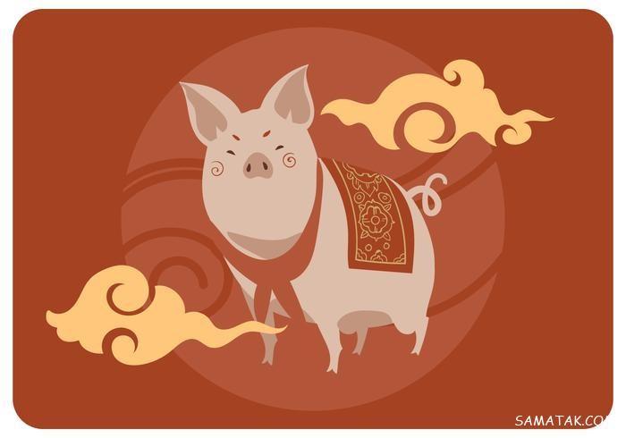 عکس پروفایل سال خوک مبارک | عکس نوشته تبریک سال خوک برای پروفایل 98