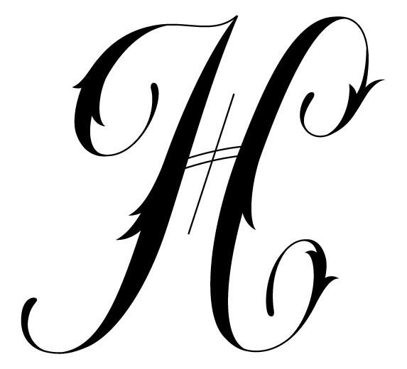 عکس نوشته حرف h برای پروفایل | عکس اول اسم h + لوگوی حرف H
