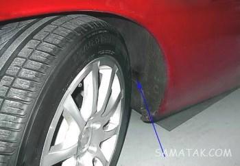 دلایل لاستیک سایی چرخ جلو | علت لاستیک سایی چرخ جلو از بیرون