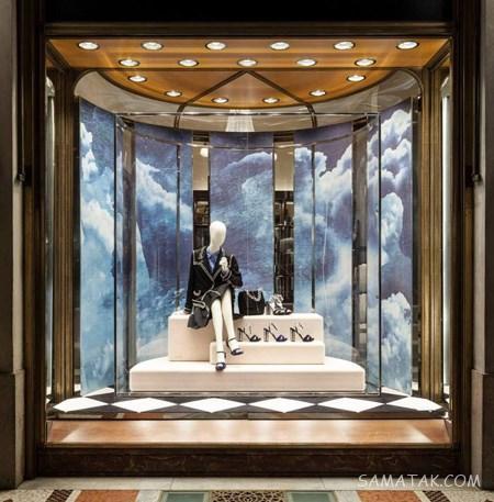 دکوراسیون مغازه کوچک لباس فروشی | مدل ویترین مغازه پوشاک زنانه