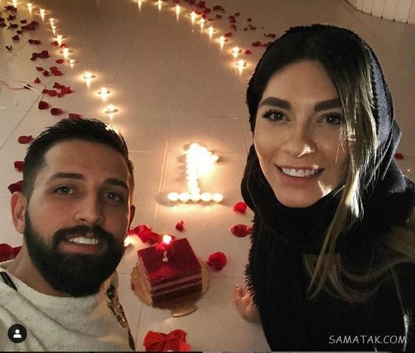 کلیپ لو رفته از رقصیدن محسن افشانی با همسرش سویل در باغ