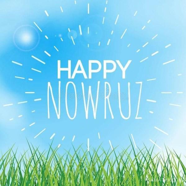 عکس نوشته انگلیسی تبریک عید نوروز | عکس عید نوروز مبارک به انگلیسی برای پروفایل