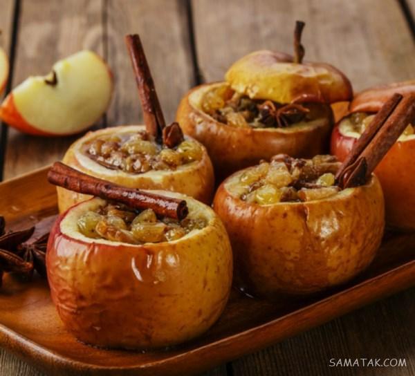 خواص سیب پخته برای لاغری، صورت، یبوست، کودک، سرماخوردگی و سرفه