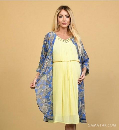 مدل مانتو بارداری نخی 1398 | ژورنال مدل های مانتو بارداری تابستانه 98
