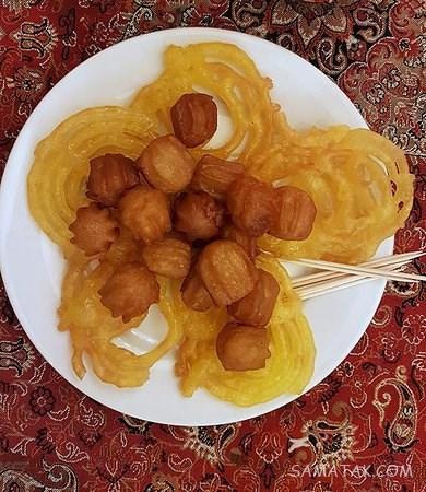 طرز تهیه زولبیا و بامیه به روش قنادی در ماه رمضان با تصویر