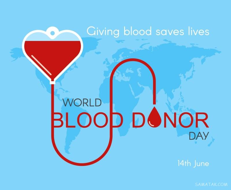 عکس نوشته روز اهدای خون ؛ پوستر روز جهانی اهدای خون