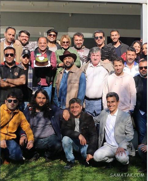 عکس های بازیگران در پشت صحنه سریال گاندو