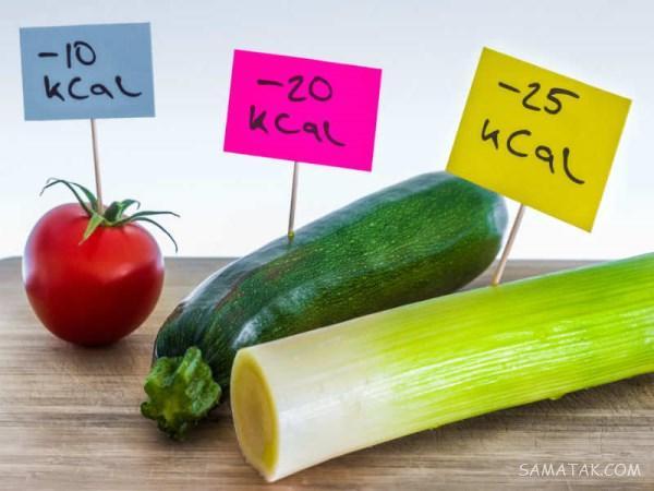جدول غذاهای کالری منفی برای لاغری (مواد غذایی، سبزیجات، میوه ها)