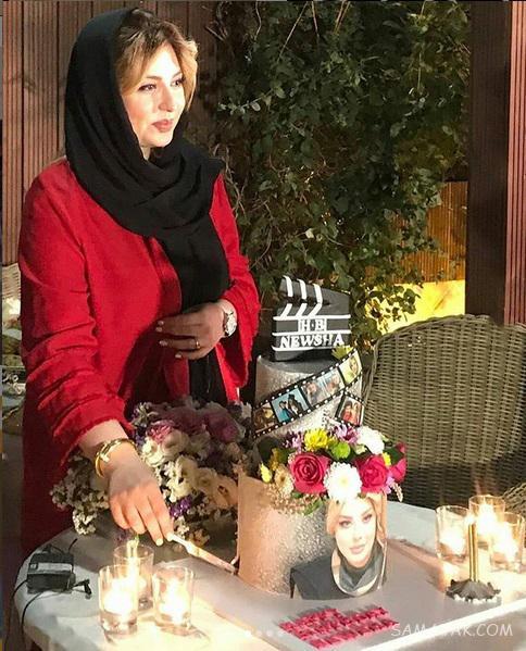 فیلم جشن تولد نیوشا ضیغمی در تیرماه 98 + تصاویر و عکس کیک تولد