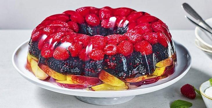 تزیین ژله میوه ای