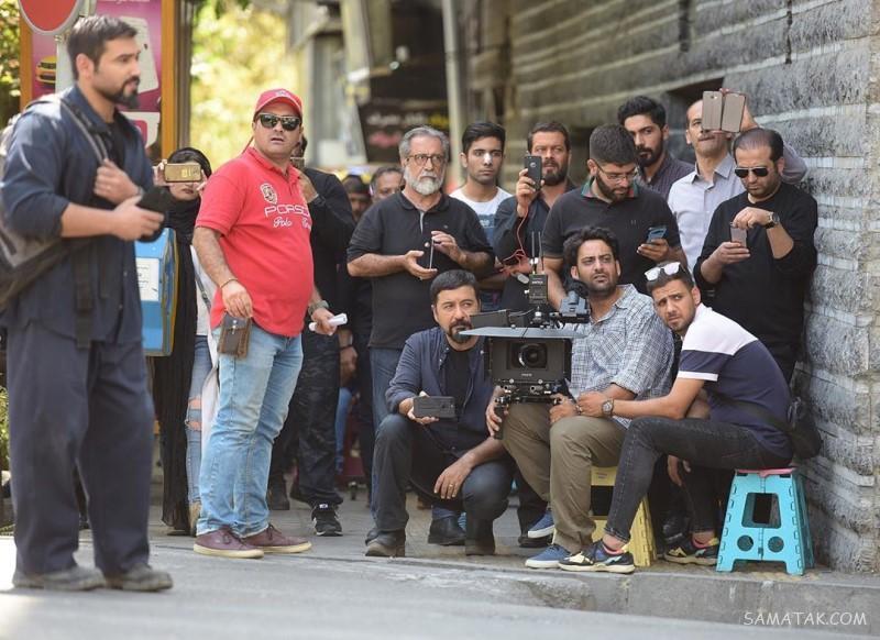 عکس بازیگران سریال مرضیه در پشت صحنه