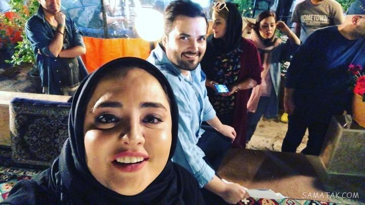 نرگس محمدی بازیگر سریال ستایش و همسرش علی اوجی