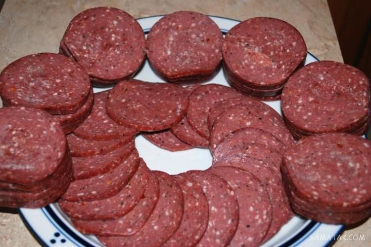 طرز تهیه کالباس گوشت خانگی مرحله به مرحله تصویری