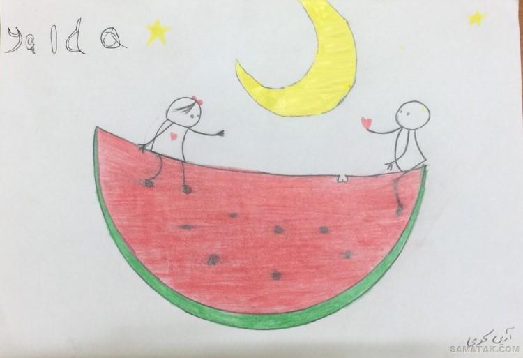 ۱۰۰ مدل نقاشی در مورد شب یلدا | طرح نقاشی شب یلدا برای مدرسه