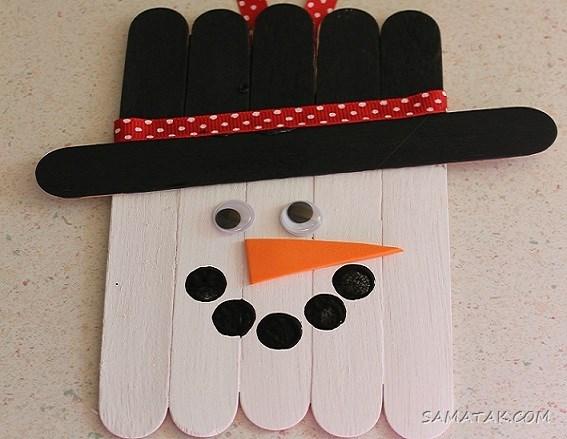 طرح های کاردستی شب یلدا با چوب بستنی برای مدرسه