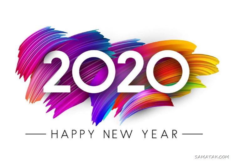 عکس تبریک سال نو میلادی 2020