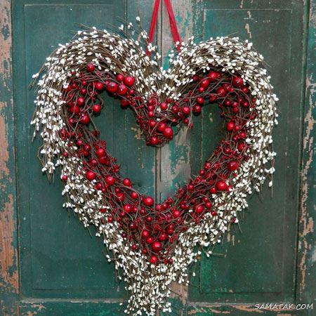 انواع درکوب های قلبی شکل برای تزیین روی در اتاق