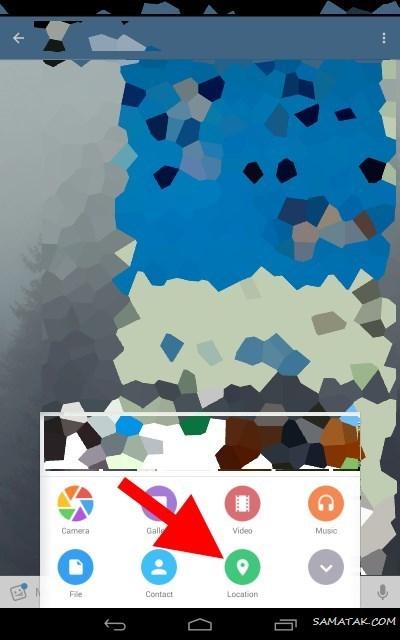 چگونه لوکیشن بفرستیم در واتساپ - گوگل مپ - تلگرام - پیامک
