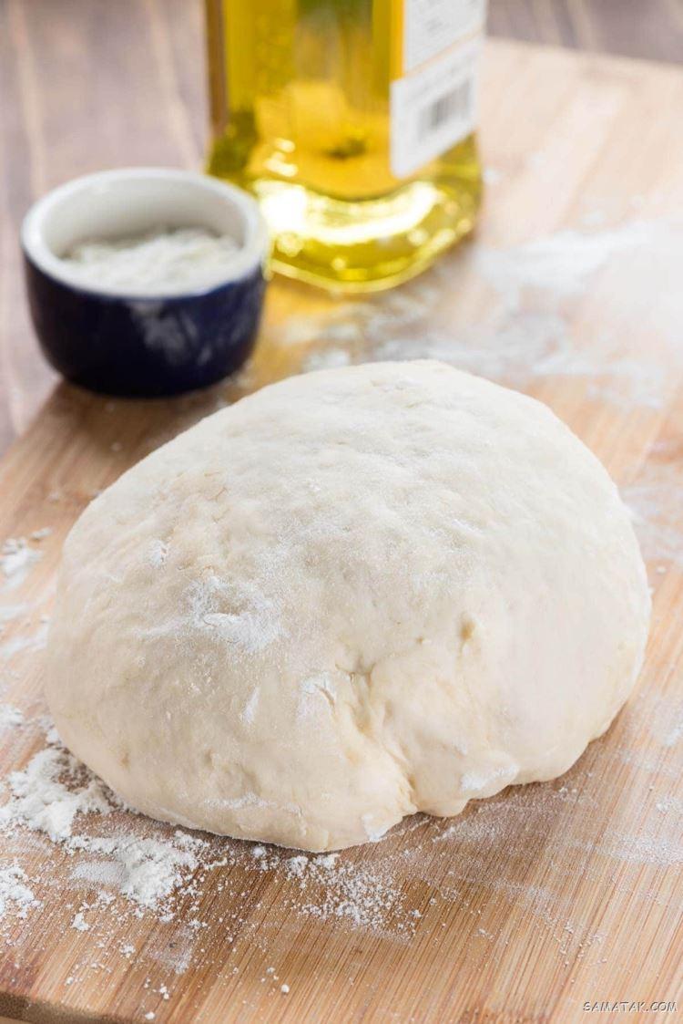 طرز تهیه خمیر پیتزا بدون خمیر مایه
