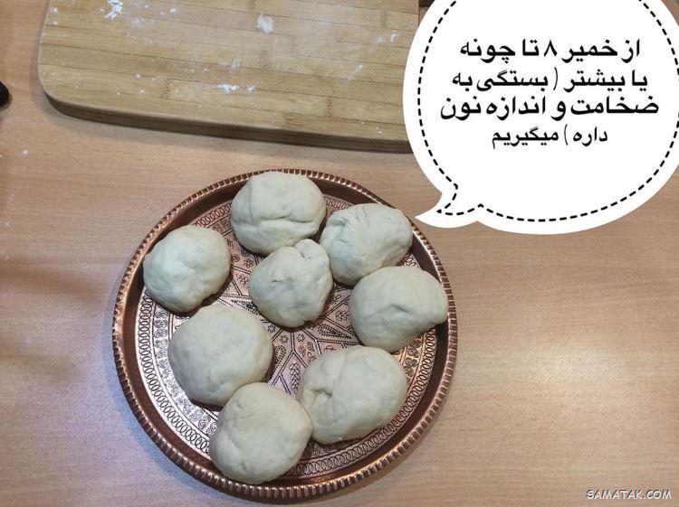 طرز تهیه نان تافتون در منزل | آموزش پخت نان تافتون در خانه