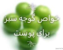 خواص گوجه سبز برای پوست