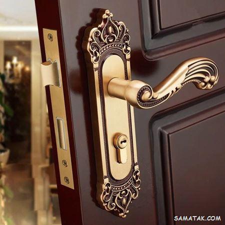 مدل دستگیره در ورودی آپارتمان | مدل دستگیره درب چوبی