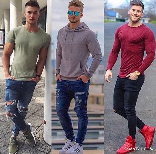 100 مدل شلوار لی مردانه 2020 - 99 (زاپ دار – دمپا تنگ – راسته)