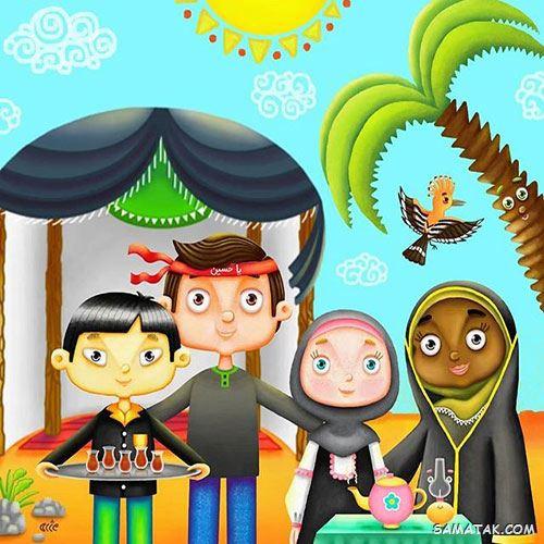 مدل نقاشی محرم برای کودکان | نقاشی کودکانه با موضوع محرم