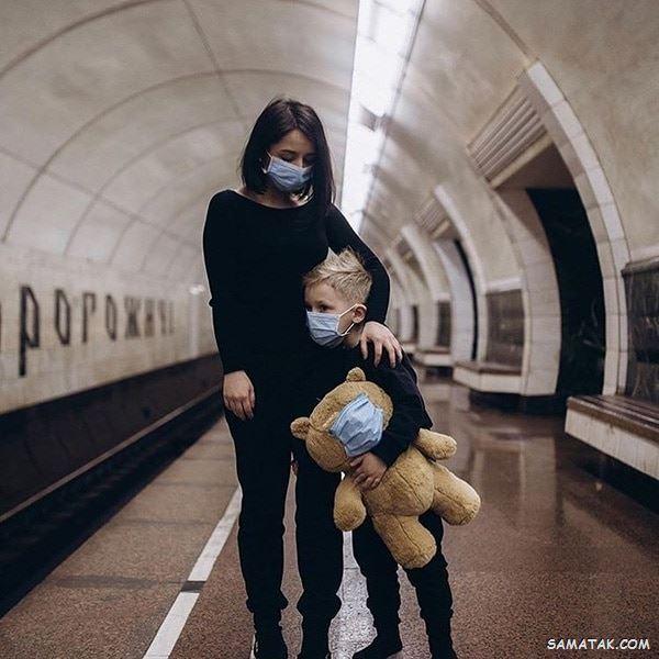 عکس کرونایی برای پروفایل | عکس پروفایل کرونایی دخترانه و پسرانه