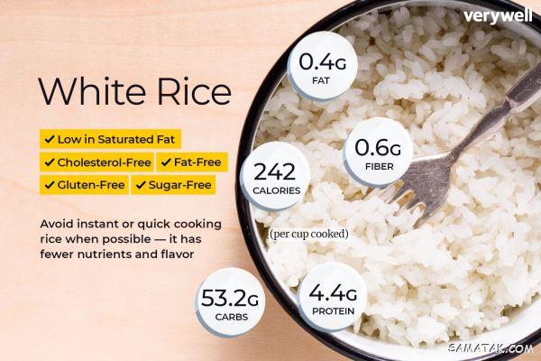 کالری برنج کته و ابکش | یک قاشق برنج چقدر کالری دارد