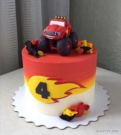 کیک تولد پسرانه ماشین؛ عکس انواع مدل کیک تولد پسرانه با تم ماشین