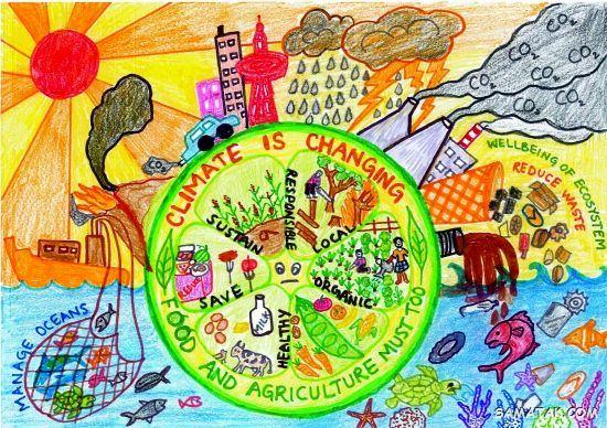 نقاشی در مورد روز جهانی غذا | نقاشی برای روز جهانی غذا