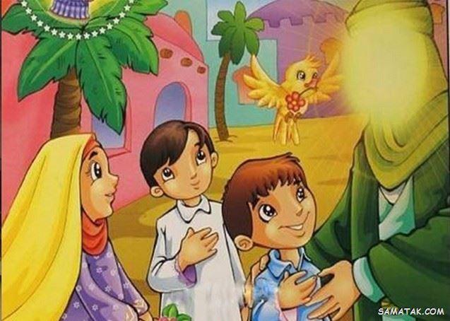 نقاشی عید مبعث کودکانه | نقاشی ساده عید مبعث برای رنگ آمیزی کودکان