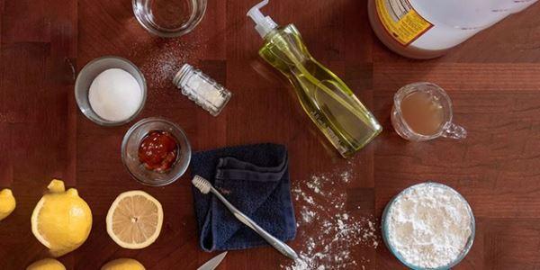 شستشو و تمیز کردن ظرفهای برنجی