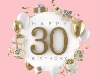 متن زیبا برای تولد ۳۰ سالگی | پیام تبریک تولد سی سالگی